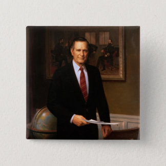 George Bush 2 Inch Square Button