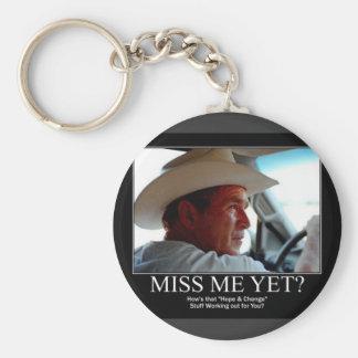 George Bush Basic Round Button Keychain