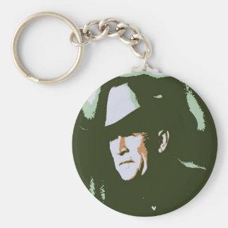 George Bush/Cowboy Basic Round Button Keychain