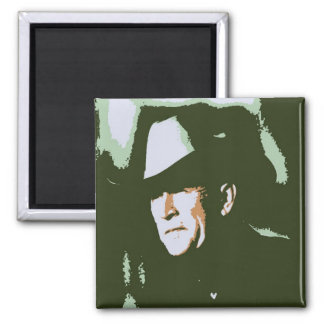 George Bush/Cowboy Square Magnet
