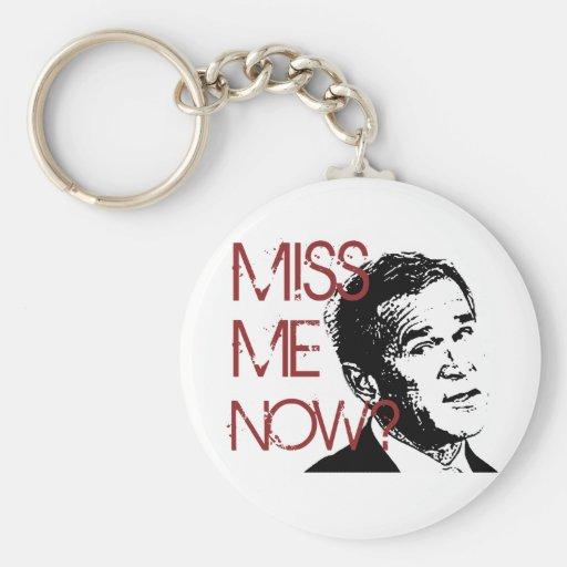 George Bush Miss Me Now Key Chain