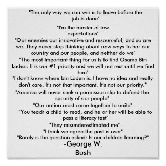 George Bush quotes poster