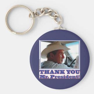 George Bush/Thank you! Basic Round Button Keychain