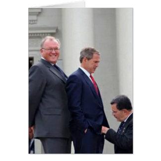 George Bush Thank you greeting card