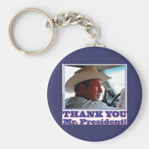 George Bush/Thank you! Keychains