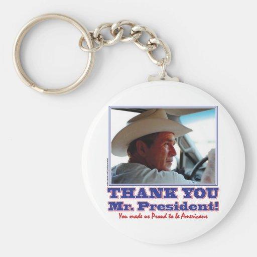George Bush/Thank you! Key Chains