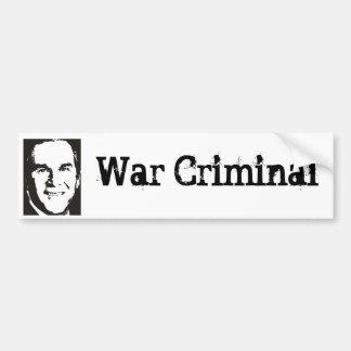 George Bush - War Criminal Bumper Sticker