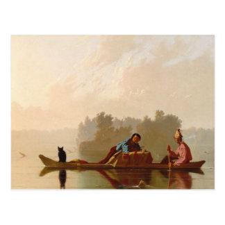 George Caleb Bingham - Fur Traders Descending Postcard