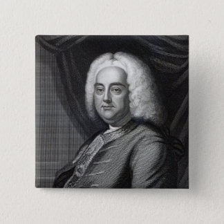 George Frederic Handel, engraved by Thomson 2 Inch Square Button