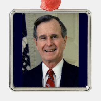 George H. W. Bush 41st President Metal Ornament