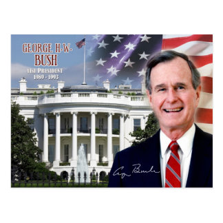 George H. W. Bush - 41st President of the U.S. Postcard