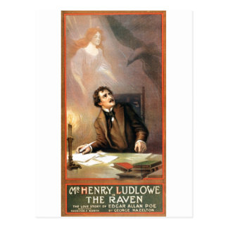George Hazelton's The Raven (Edgar Allan Poe) 1908 Postcard