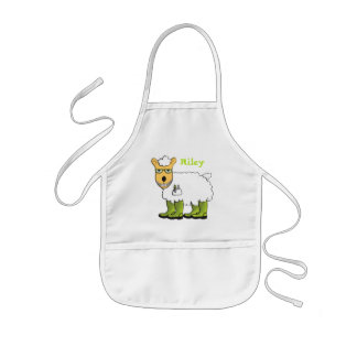George - he's a little sheepish apron