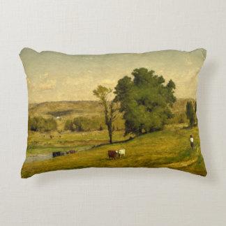 George Inness - Landscape Decorative Pillow