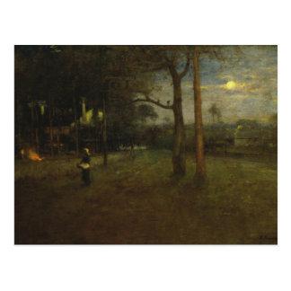 George Inness - Moonlight, Tarpon Springs Postcard