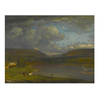 George Inness - On the Delaware River Postcard