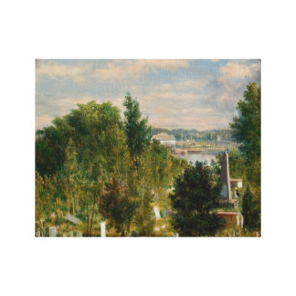 George Loring Brown - New England Landscape Canvas Print