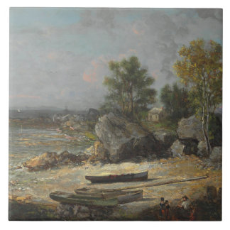 George Loring Brown - Oysterman's Hut Ceramic Tile