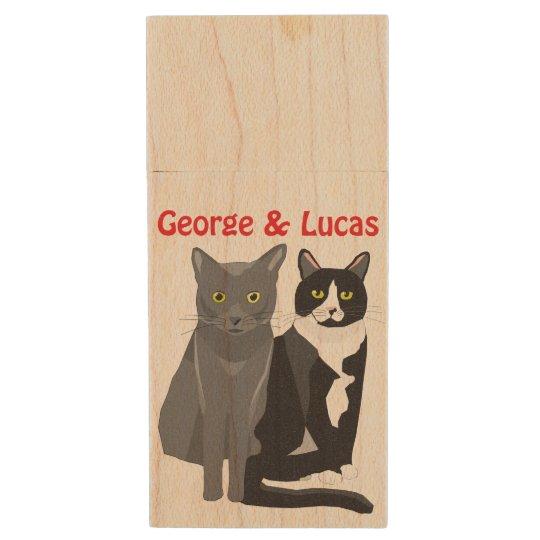 George & Lucas wooden USB stick Wood USB Flash Drive