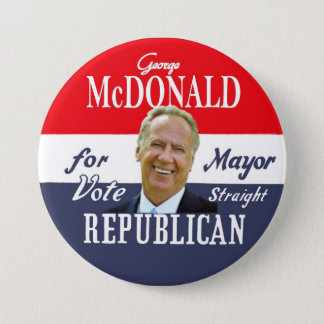 George McDonald NYC Mayor in 2013 3 Inch Round Button