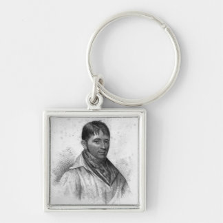 George Nichols, engraved by Percy Roberts Silver-Colored Square Keychain