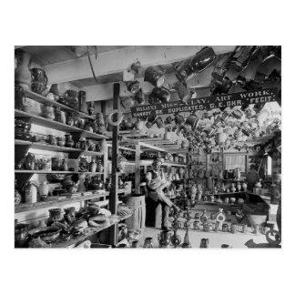 George Ohr Pottery Shop, 1901 Postcard