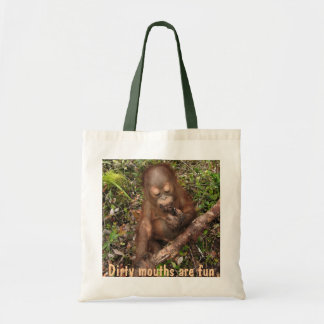 George Orangutan Dirty Mouth Tote Bag