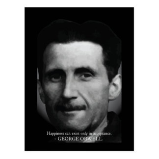 George Orwell 'Happiness' Quote Postcard