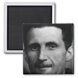 George Orwell Portrait Vector Art Magnet