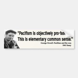 George Orwell Quote Bumper Sticker
