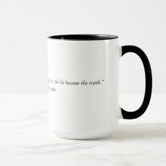 George Orwell quote from 1984 Two Tone Coffee Mug. Mug