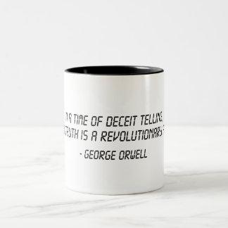 George Orwell Quote Two-Tone Coffee Mug