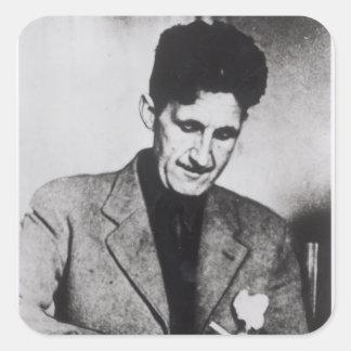 George Orwell Square Sticker