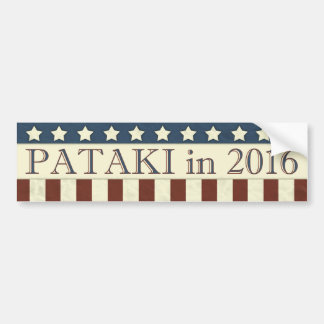 George Pataki in 2016 Bumper Sticker