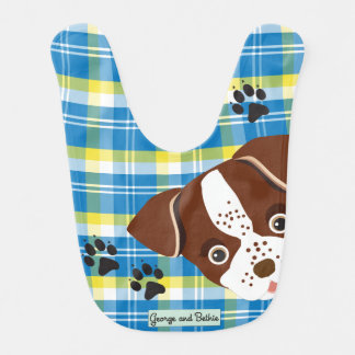 George: Plaid for You Baby Bib