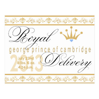 George Prince of Cambridge Souvenir Post Card