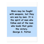 george s patton quote post card