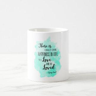 George Sand Watercolor Love Quote Mug