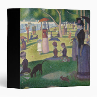 GEORGE SEURAT - A  sunday afternoon 1884 3 Ring Binder