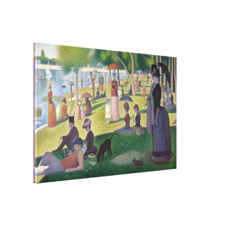 GEORGE SEURAT - A sunday afternoon 1884 Canvas Print