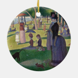 GEORGE SEURAT - A  sunday afternoon 1884 Ceramic Ornament