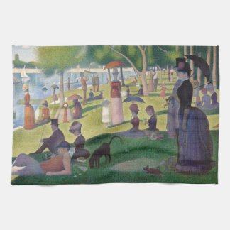 GEORGE SEURAT - A  sunday afternoon 1884 Kitchen Towel