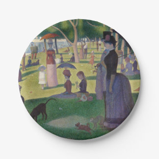 GEORGE SEURAT - A  sunday afternoon 1884 Paper Plate