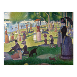 GEORGE SEURAT - A  sunday afternoon 1884 Postcard