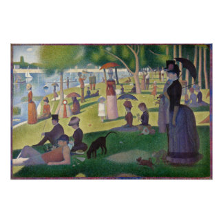 GEORGE SEURAT - A sunday afternoon 1884 Poster