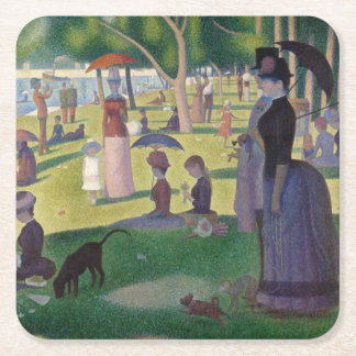 GEORGE SEURAT - A  sunday afternoon 1884 Square Paper Coaster