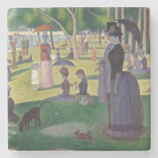 GEORGE SEURAT - A  sunday afternoon 1884 Stone Coaster
