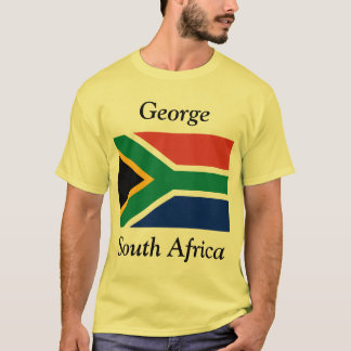 George, South Africa with South African Flag T-Shirt