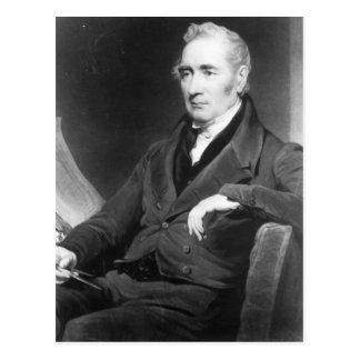 George Stephenson, engraved by Charles Turner Postcard