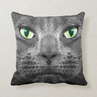 George super-real grey cat cushion
